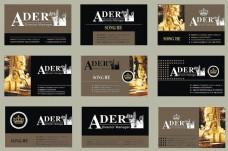 欧式潮流名片卡片设计矢量素材
