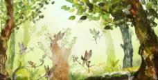 神秘森林素材图片