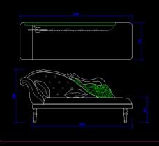 CAD贵妃椅图片