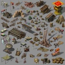 游戏中的乡村组件高清psd下载