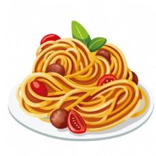 意大利面美食矢量素材图片