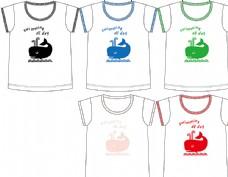 童装印花T恤图片