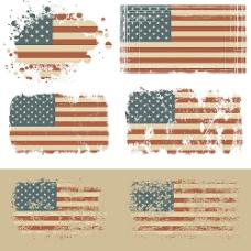 复古国旗矢量素材