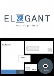 方框和E标志设计
