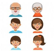 卡通家庭成员头像