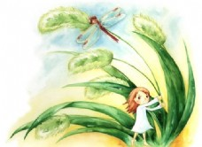 拇指姑娘 童话人物 卡通漫画 分层 PSD_0019
