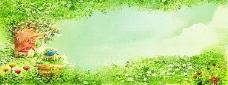 绿色淘宝背景图片