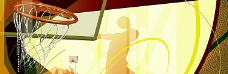 篮球运动banner创意背景