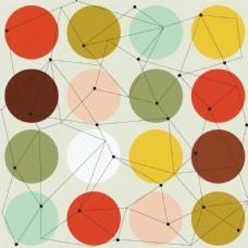 有彩色圆圈和线条的几何背景