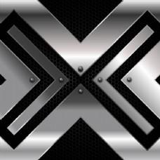 金属背景的铁十字