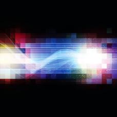 动感光线方块背景