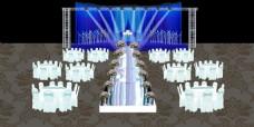 蓝色婚礼效果图免费下载