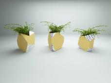 原创3d陶瓷花器设计
