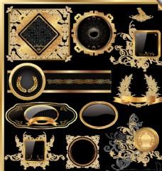 欧式花纹古典标签素材图片