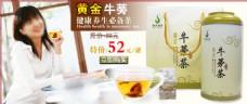 牛蒡茶淘宝海报