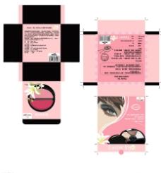 手绘化妆品盒子图片