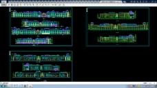 某市贸易区CAD立面建筑图纸