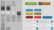 14款透明立体效果网页按钮PS样式