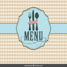 餐厅菜单的封面