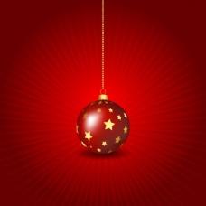 红色的圣诞玩具