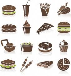 甜品快餐美食图标