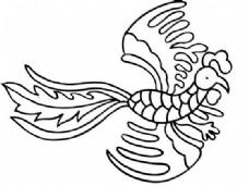 凤凰 凤纹图案 鸟类装饰图案 矢量素材 CDR格式_0092