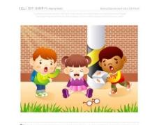 漫画儿童 卡通儿童 矢量 AI格式_0942