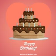 生日巧克力蛋糕