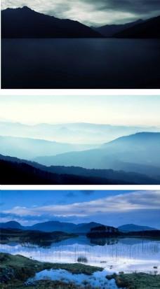 高山远山清晰背景图片