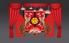 中式婚礼合影区