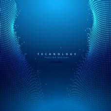 蓝色的技术背景
