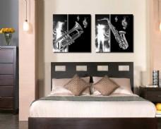 卧室乐器装饰画