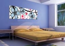 清新花朵线条装饰画