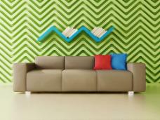 沙发和背景墙