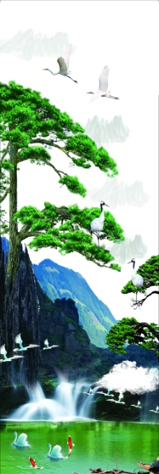 作文本封面设计手绘山水画
