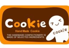 可爱手工饼干标签矢量素材图片