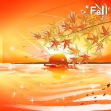 秋天的夕阳