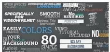 80组简洁的文字特效动画AE模板