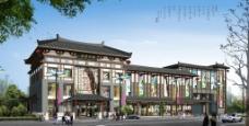 古建商場效果圖圖片