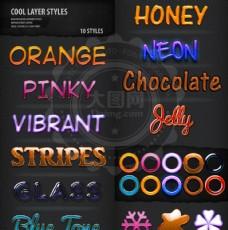 可爱的糖果和巧克力效果PS字体样式