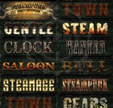 10款超酷的蒸汽朋克效果艺术字样式