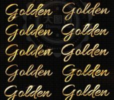 8款黄金质感的艺术字样式