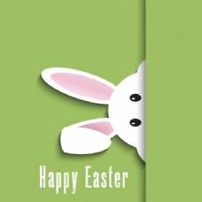 复活节背景与可爱的兔子设计