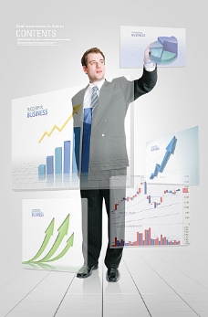 商业人物与图表素材