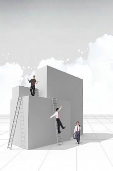 楼梯与职业男性