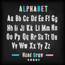 用粉笔画的字母