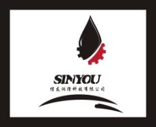 石油logo 标志设计 齿轮logo