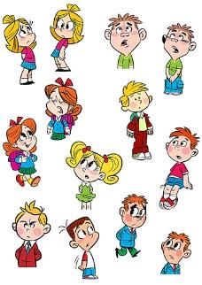 可爱卡通儿童表情