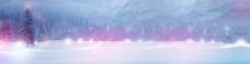 唯美雪景淘宝海报素材背景