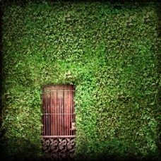 綠色復古風景背景素材圖